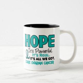 Ovarian Cancer HOPE 1 Two-Tone Coffee Mug