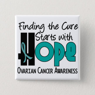 Ovarian Cancer HOPE 4 15 Cm Square Badge