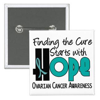 Ovarian Cancer HOPE 4 15 Cm Square Badge