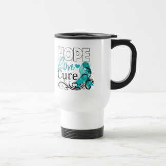 Ovarian Cancer Hope Love Cure Stainless Steel Travel Mug