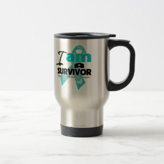 Ovarian Cancer - I am a Survivor Stainless Steel Travel Mug