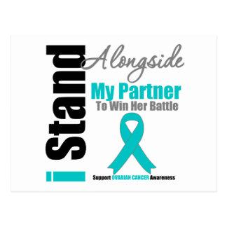 Ovarian Cancer I Stand Alongside My Partner Postcard