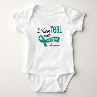 Ovarian Cancer I WEAR TEAL FOR MY GRANDMA 42 Baby Bodysuit