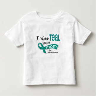 Ovarian Cancer I WEAR TEAL FOR MY MOM 42 Toddler T-Shirt