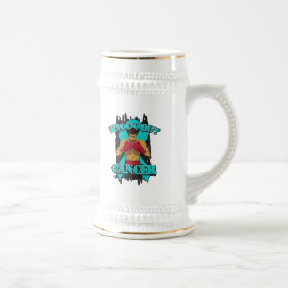 Ovarian Cancer Knock Out Cancer Coffee Mug