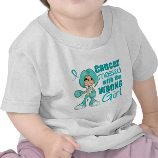 Ovarian Cancer Messed With Wrong Girl.png Shirts