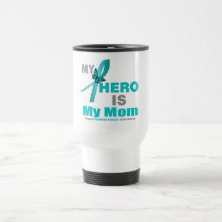 Ovarian Cancer My Hero is My Mom Stainless Steel Travel Mug