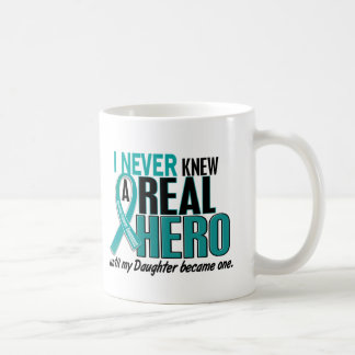Ovarian Cancer NEVER KNEW A HERO 2 Daughter Basic White Mug