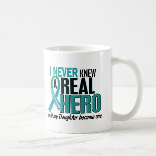 Ovarian Cancer NEVER KNEW A HERO 2 Daughter Coffee Mug