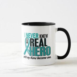 Ovarian Cancer NEVER KNEW A HERO 2 Nana Mug