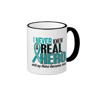 Ovarian Cancer NEVER KNEW A HERO 2 Nana Mugs