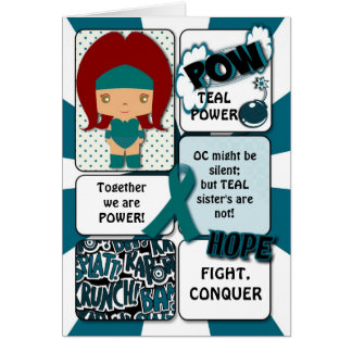 Ovarian Cancer Super Hero Card