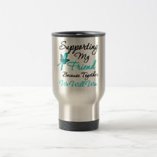 Ovarian Cancer Supporting My Friend Stainless Steel Travel Mug