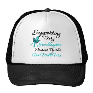 Ovarian Cancer Supporting My Granddaughter Trucker Hats