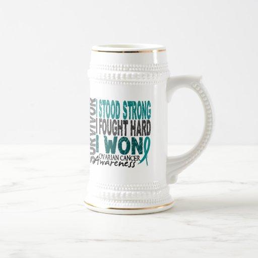 Ovarian Cancer Survivor 4 Coffee Mugs