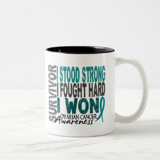 Ovarian Cancer Survivor 4 Two-Tone Coffee Mug