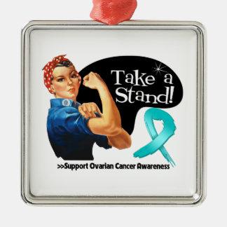 Ovarian Cancer Take a Stand Christmas Tree Ornaments