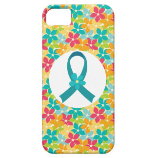 Ovarian Cancer Teal Awareness Ribbon Case For The iPhone 5