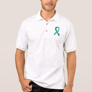 Ovarian Cancer Teal Ribbon 3 Polo