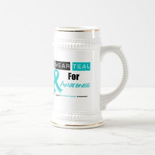 Ovarian Cancer Teal Ribbon For Awareness Mug