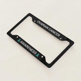 Ovarian Cancer Teal Ribbon License Frame