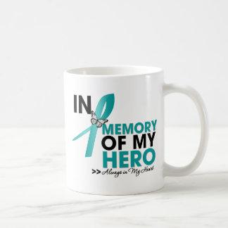 Ovarian Cancer Tribute In Memory of My Hero Basic White Mug