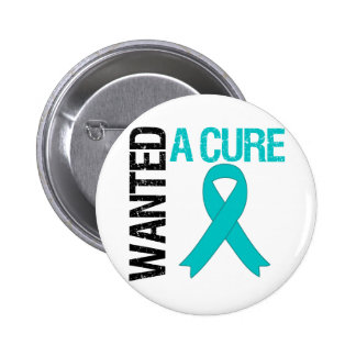 Ovarian Cancer Wanted A Cure 6 Cm Round Badge