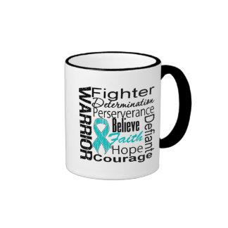 Ovarian Cancer Warrior Collage Mug