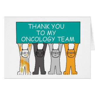 Ovarian Oncology Team Thanks Card