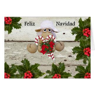 Ovejita of crochet to congratulate Christmas Card