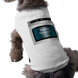 Oven graphic with personalized text sleeveless dog shirt