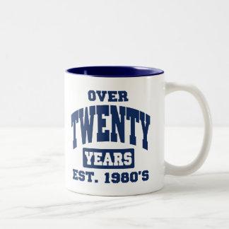 Over 20th Birthday Mugs