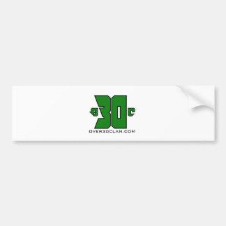 Over 30 Clan Logo (Xbox Green) Bumper Sticker