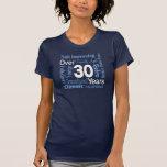Over 30 Years 30th Birthday T-shirt