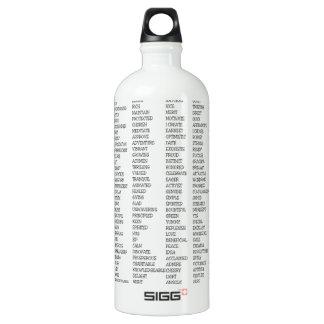 Over 600 Positive Words! Water Bottle