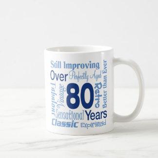 Over 80 Years 80th Birthday Mugs