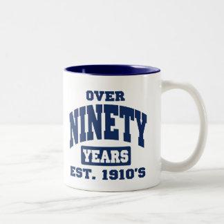 Over 90th Birthday Mugs