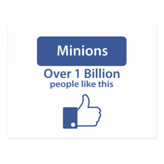 Over A Billion Likes - Minions Postcard