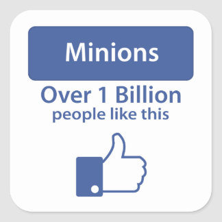 Over A Billion Likes - Minions Square Sticker