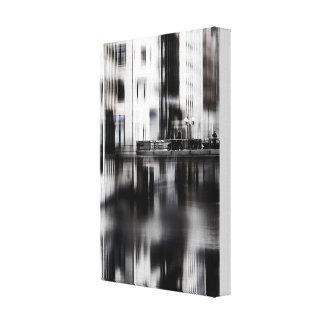 Over a bridge canvas print