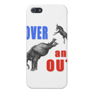OVER AND OUT Political Illustration iPhone 5 Case