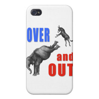 OVER AND OUT Political Illustration iPhone 4 Cover