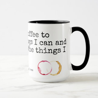Over Coffee and Wine Mug