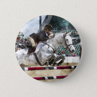 Over Easy Hunter Jumper Show Jumping 6 Cm Round Badge