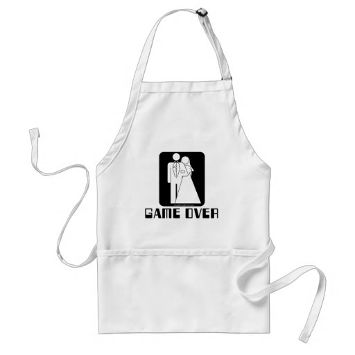 Over game Wedding Aprons