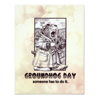 Over Rated? Groundhog Day Party Invitation