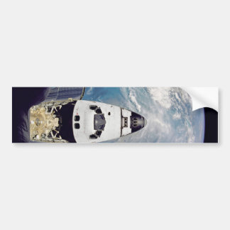 Over shuttle view bumper sticker
