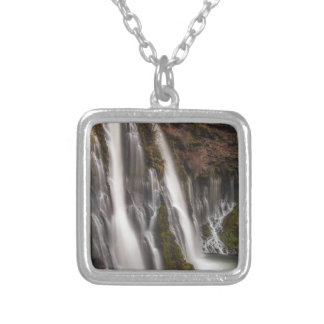 Over the Edge Burney Falls Silver Plated Necklace