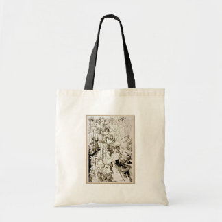 Over the Fence Retro Theater Tote Bag