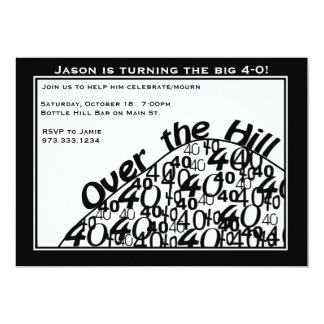 Over the Hill 40th Birthday Party Invitation